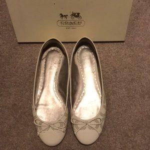 Coach Crinkle Patent Ballet Flats